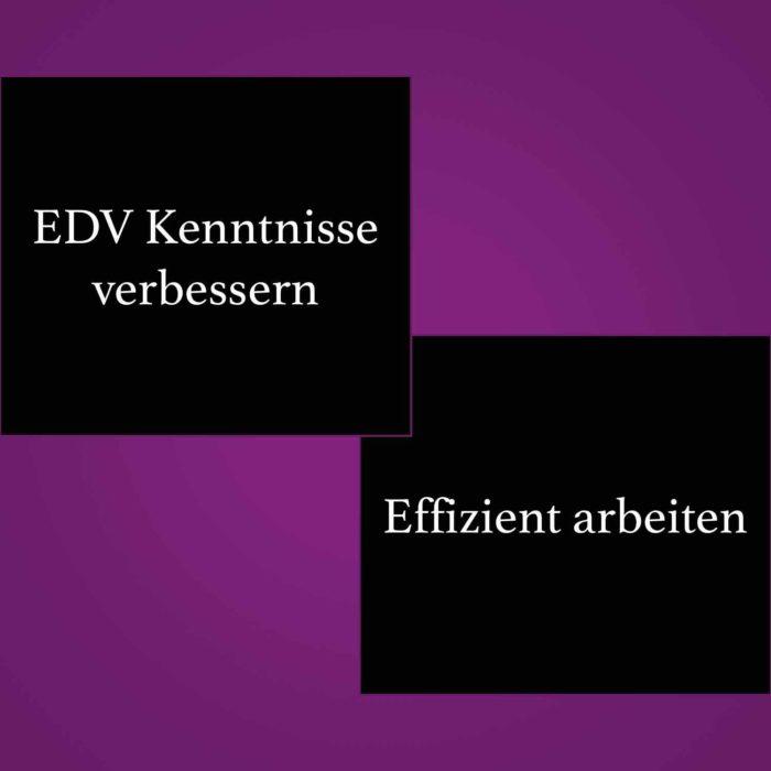 EDV-Kenntnisse verbessern, effizient arbeiten