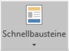Textbaustein, Autotext, Schnellbaustein Symbol