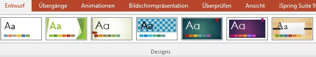 PowerPoint Präsentation Design wählen
