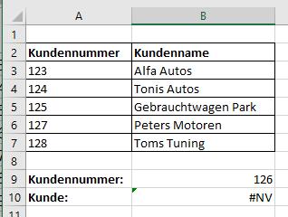 SVerweis in Excel mit Wert falsch