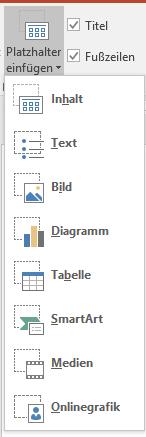 Platzhalter in PowerPoint einfügen