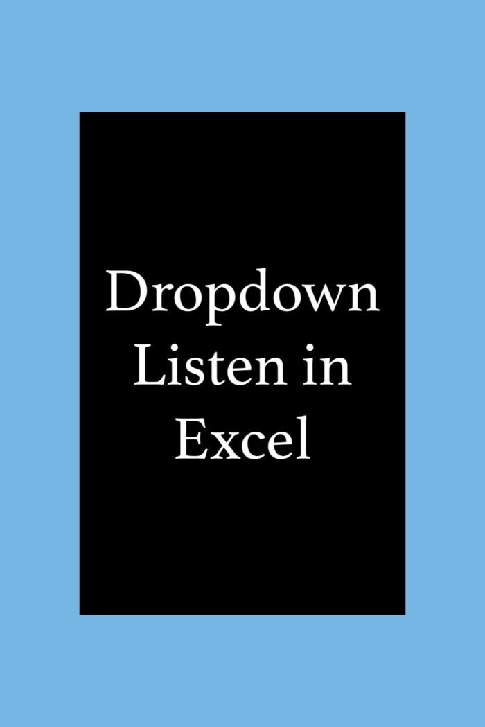 Dropdown Listen erstellen in Excel