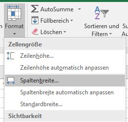 Excel Tipps Anfänger: Spaltenbreite anpassen Format