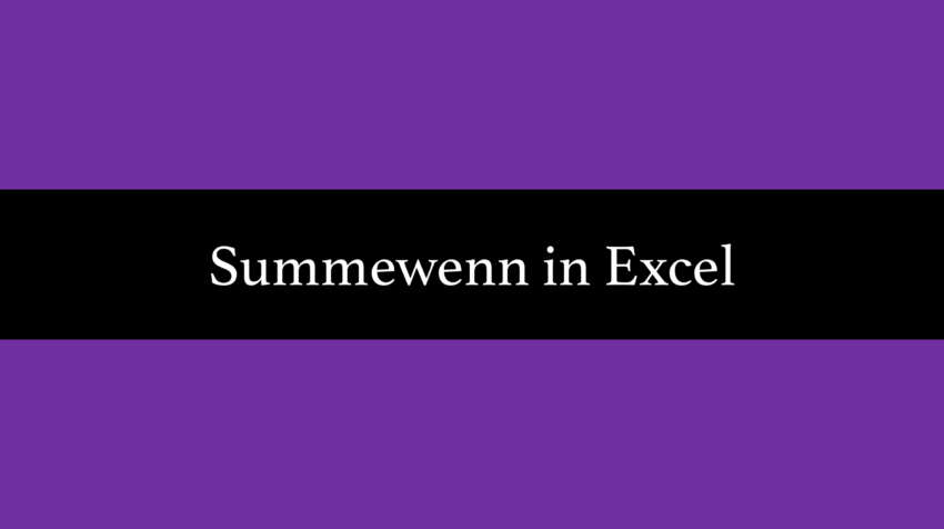 summewenn funktion excel
