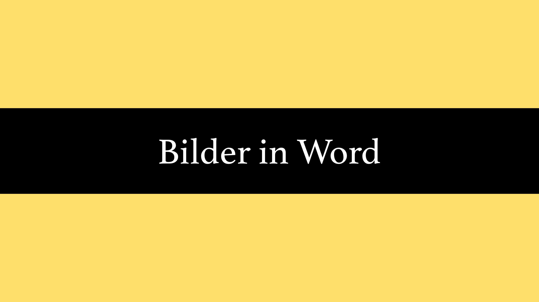 Bilder in Word: Einfügen, verschieben, zuschneiden