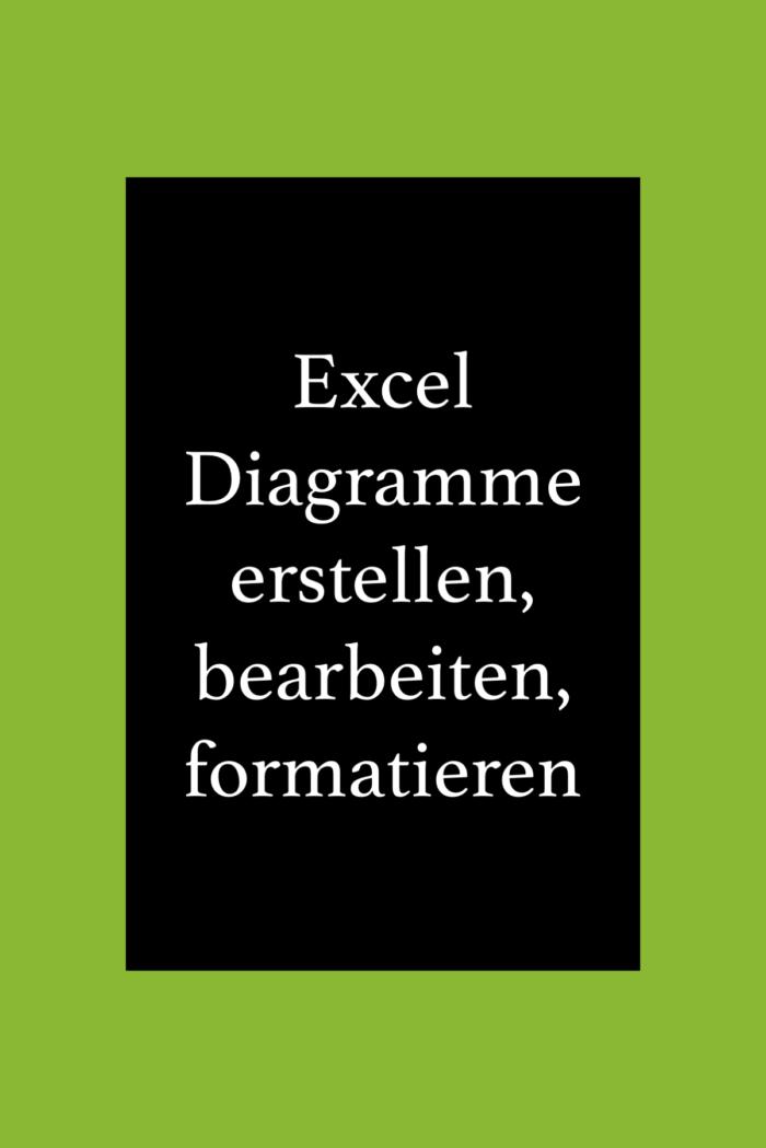 Excel Diagramme erstellen, formatieren und bearbeiten.