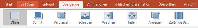 Übergänge in PowerPoint Präsentationen
