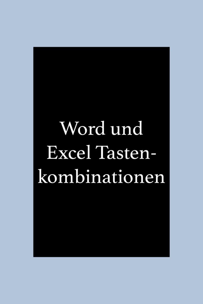 EDV Tipps: Word und Excel Tastenkombinationen, shortcuts.