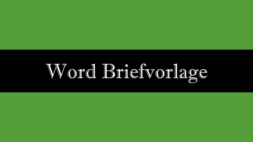 Word Briefvorlage mit Fenster