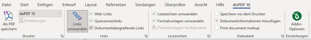 Word zu PDF mit Converter